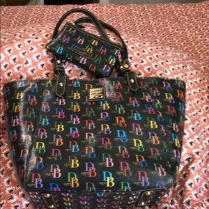 Dooney and Bourke multi color tote